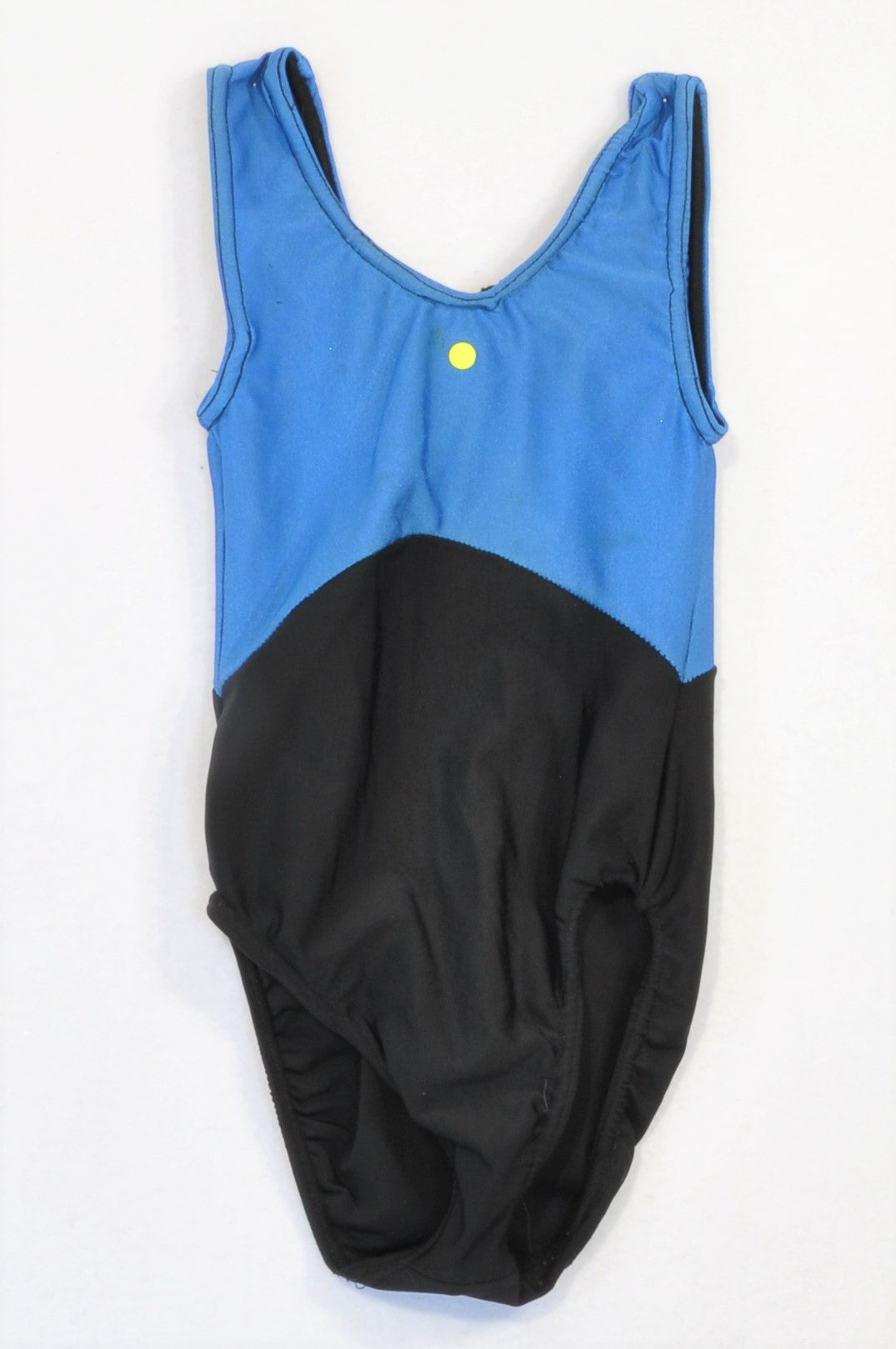 Unbranded Blue & Black Panel Leotard Girls 6-8 years