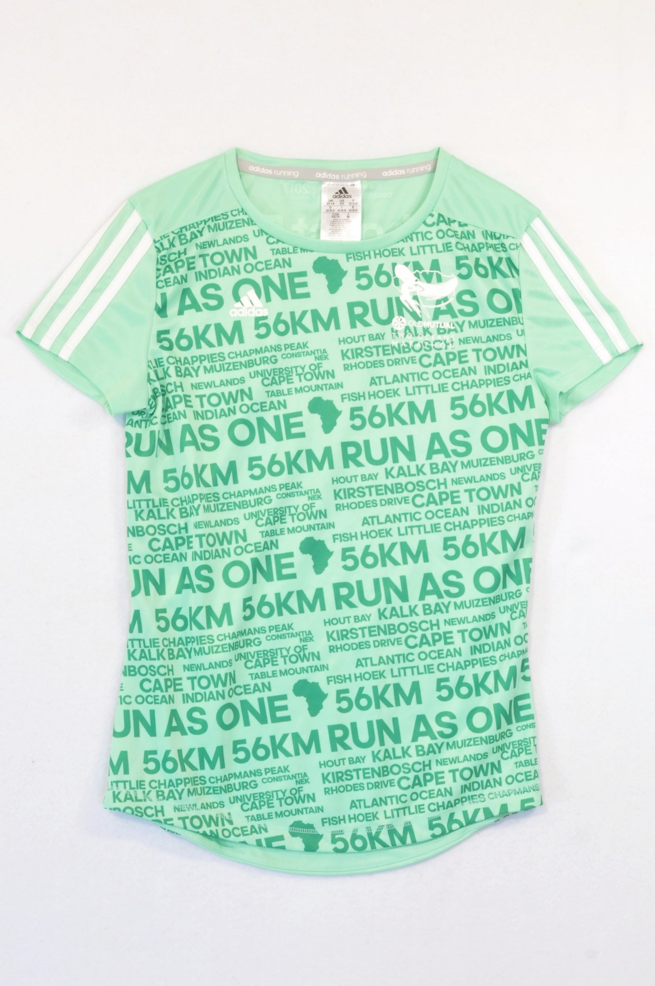 Adidas Green Two Oceans Sporty T-shirt Women Size 6