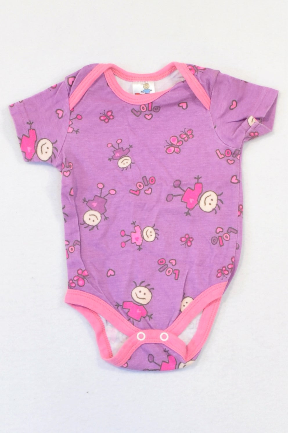 The Children's Place Purple & Pink LOLO Baby Grow Girls 3-6 months