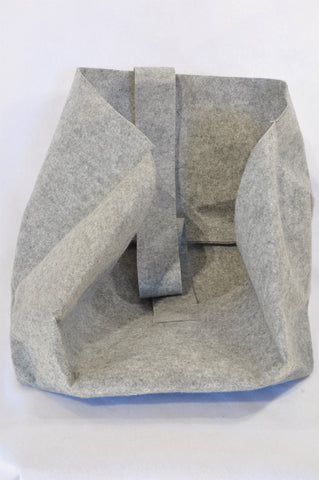 Unbranded Grey Felt Handle Storage Bag Kids Accessory Unisex All Ages