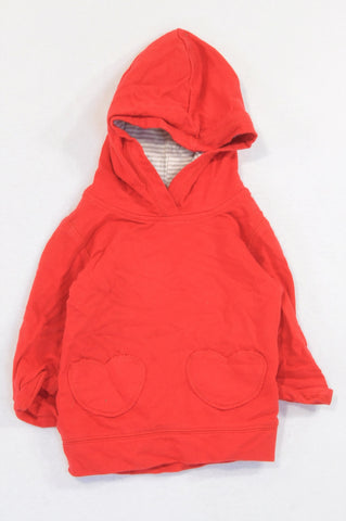 Carter's Red Pocket Hoodie Girls 6-12 months