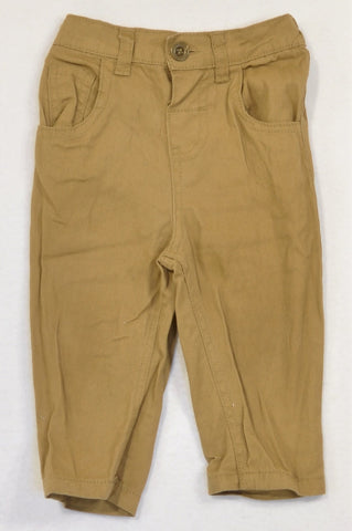 Ackermans Basic Dark Beige Chinos Boys 6-12 months