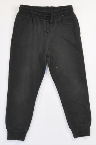 Cotton On Basic Black Cuffed Pants Unisex 5-6 years
