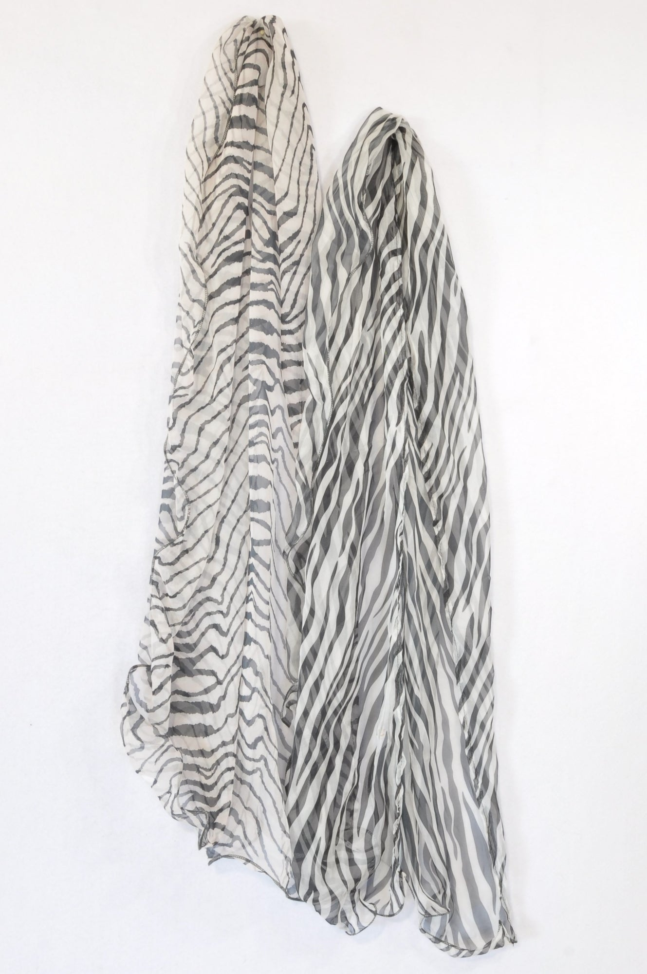 Unbranded 2 Pack Sheer Zebra Scarf Women One Size