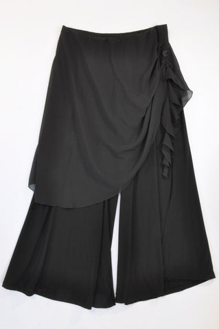 Unbranded Black Formal Sheer Overlay Bead Detail Pants Women Size 18