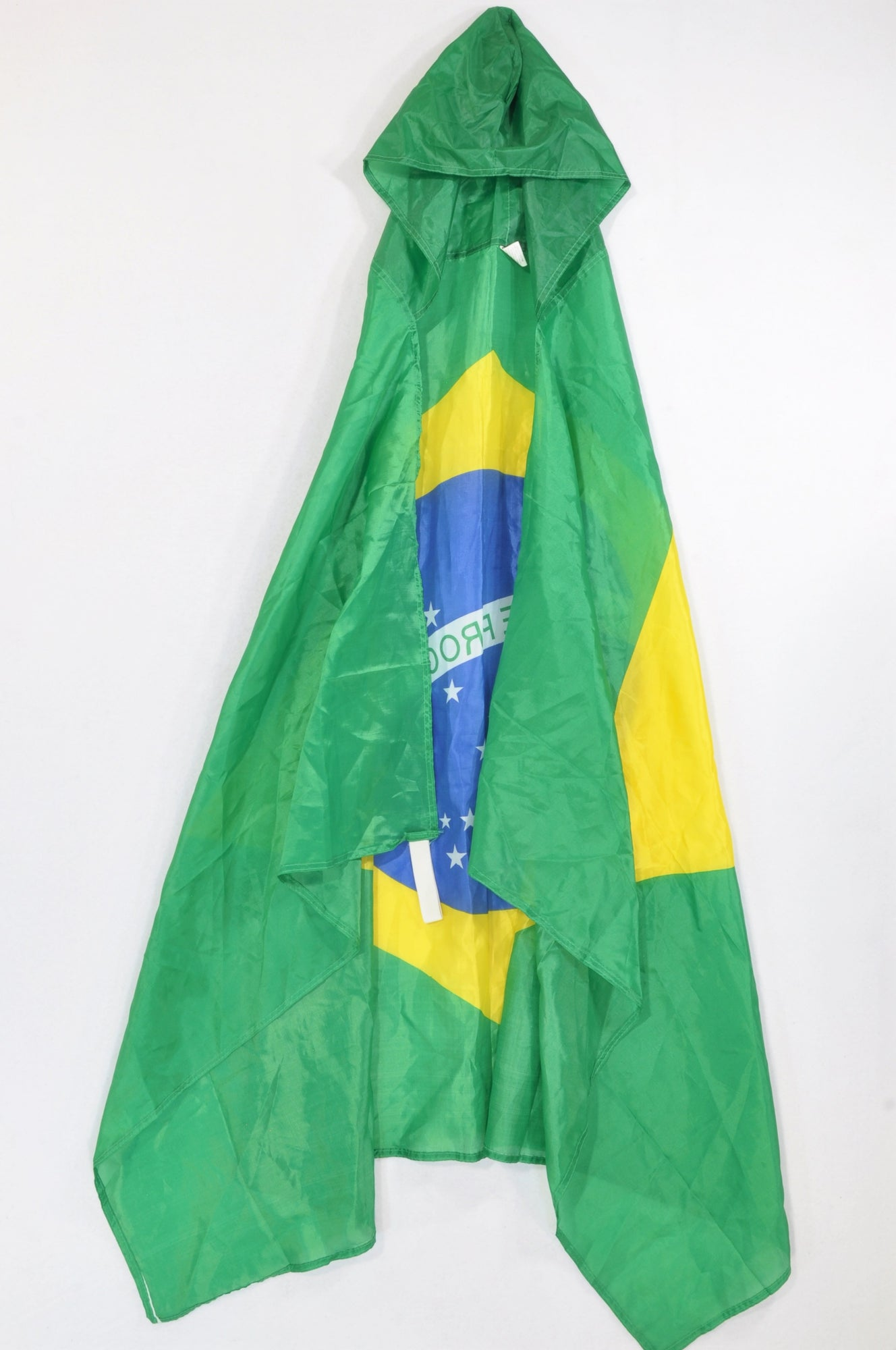 Unbranded Brasilian Hooded Flag Cape Dress up Unisex 7-14 years
