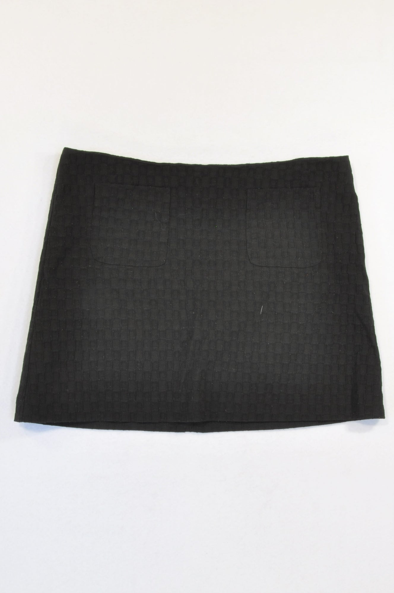 Woolworths Black Textured Skirt Women Size 12