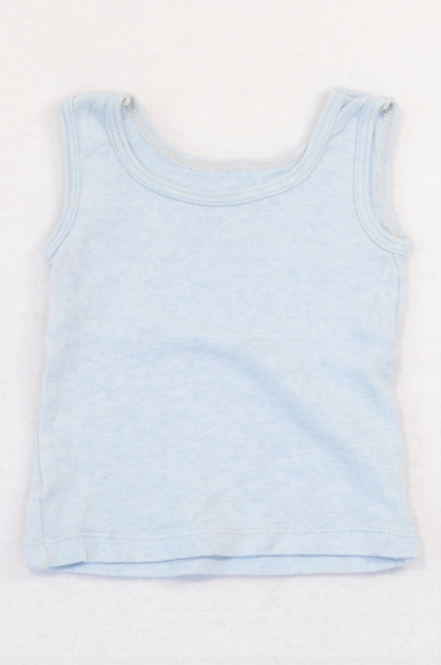 Woolworths Light Blue Tank Top Boys 6-12 months