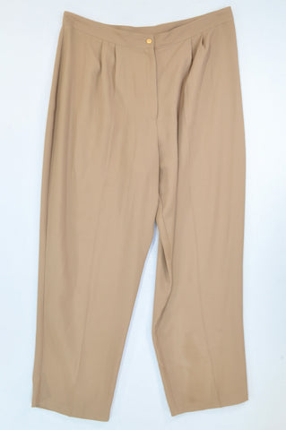 Penny C Basic Khaki Dress Pants Women Size 22