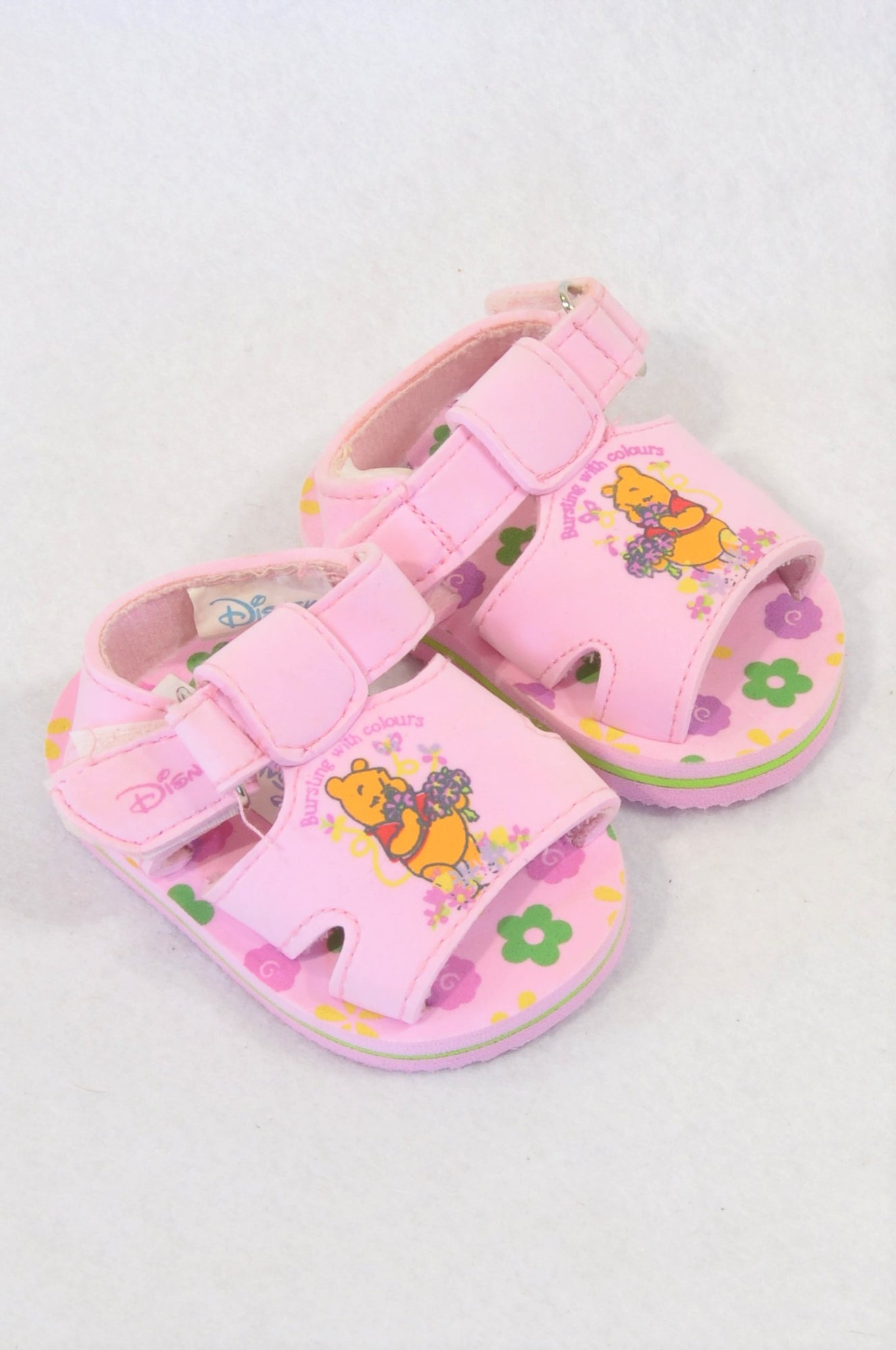 Disney Size 1 Pink Pooh Bear Sandals Girls 3-6 months