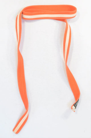Shen Sports Orange & White Stripe Karate Belt Sportswear Unisex 5+ years