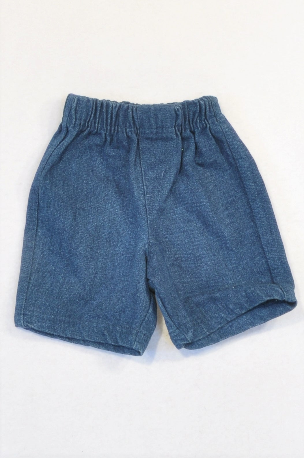 Ackermans Dark Blue Denim Shorts Unisex 3-6 months
