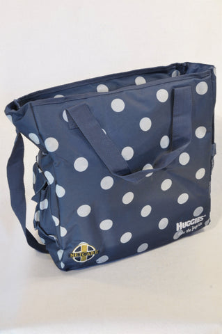 Netcare Navy Polka Dotted Nappy Bag Unisex N-B to 2 years