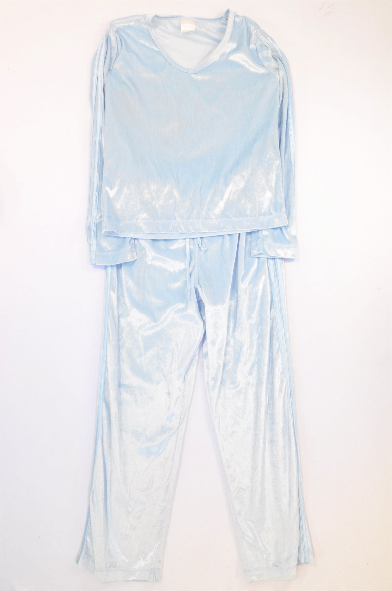 Imagine Sky Blue Velour Track Suit Women Size S