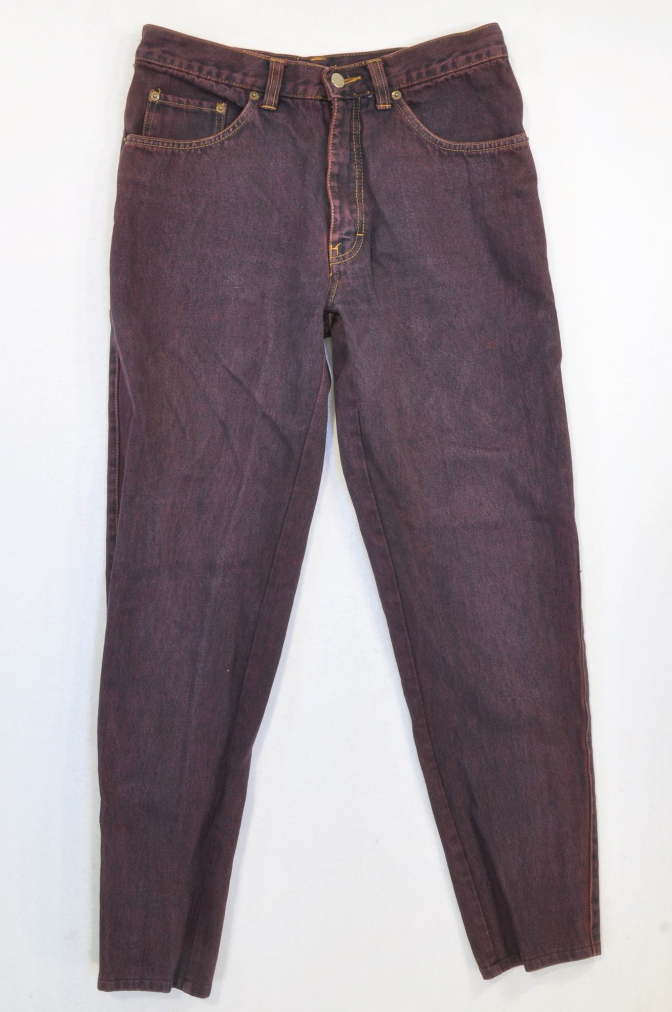 Shamo Plum Dyed Tapered Denim Jeans Women Size 8