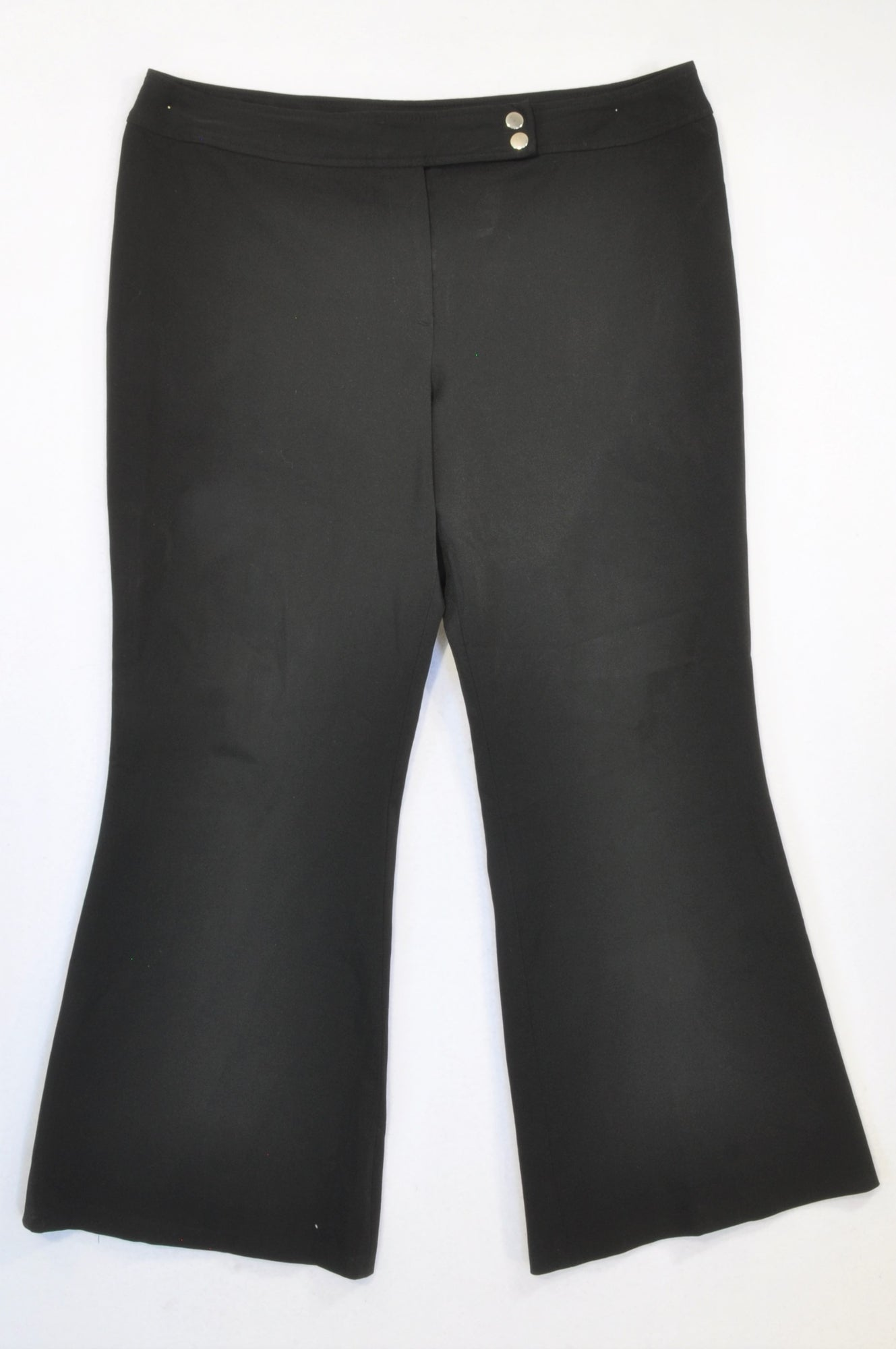 Essence Black Stretch Formal Pants Women Size 14