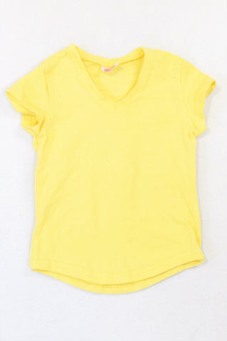 Nxt Generation Soft Yellow Cap Sleeve T-shirt Girls 5-6 years