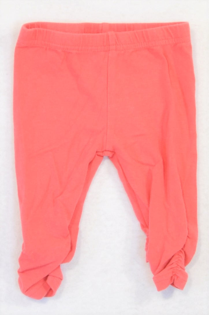 Baby Starters Coral Elastic Cropped Leggings Girls 0-3 months