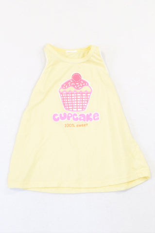 Unbranded Yellow Sweet Cupcake Dress Girls 2-3 years