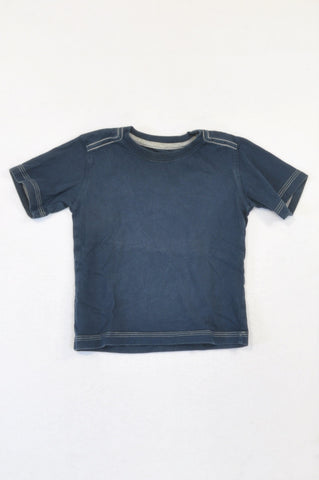 Woolworths Basic Navy T-shirt Unisex 18-24 months