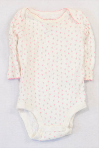 Carter's Ditsy Pink Rose Baby Grow Girls 0-3 months