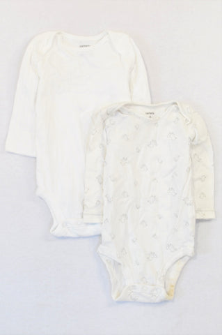 Carter's 2 Pack White Duckling Baby Grow Unisex 3-6 months