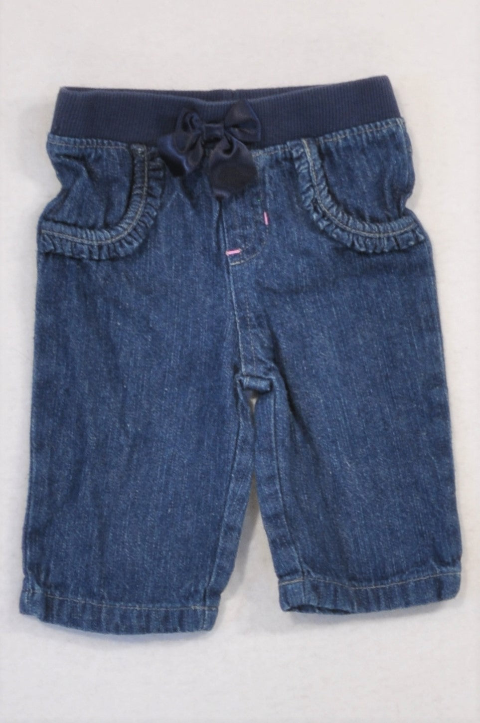 Garanimals Denim Banded Bow Jeans Girls 0-3 months