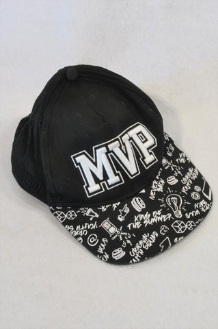 Woolworths Black MVP Peak Hat Unisex 6+ years