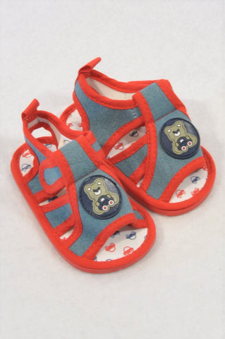 Ackermans Size 2 Red Bear Sandals Boys 3-6 months