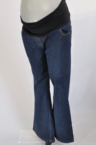 Cherrymelon Dark Wash Wide Leg Maternity Jeans Size 38