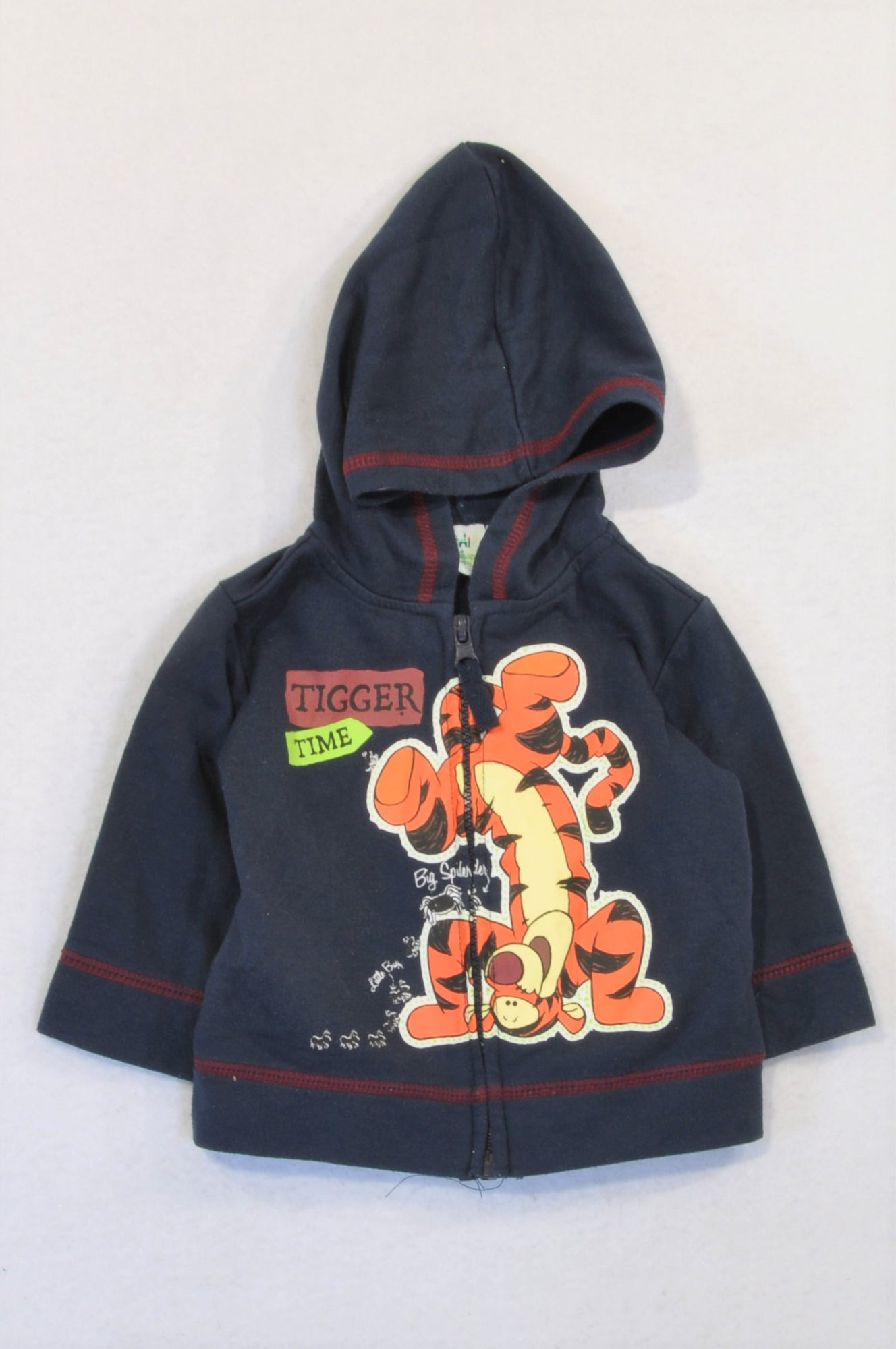 Disney Navy Tigger Time Hoodie Boys 3-6 months