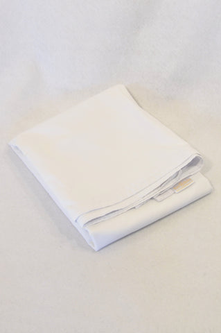 Tom & Bella Basic White Flat Sheet Standard Cot Bedding Unisex N-B to 2 years