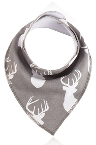 New Seadog Baby Cool Grey Earth Range Stag Bandana Bib Unisex N-B to 2 years