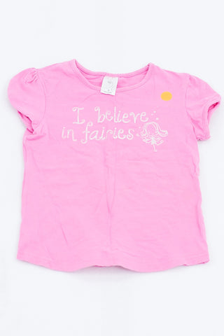 Target Pink I Believe in Fairies T-shirt Girls 4-5 years