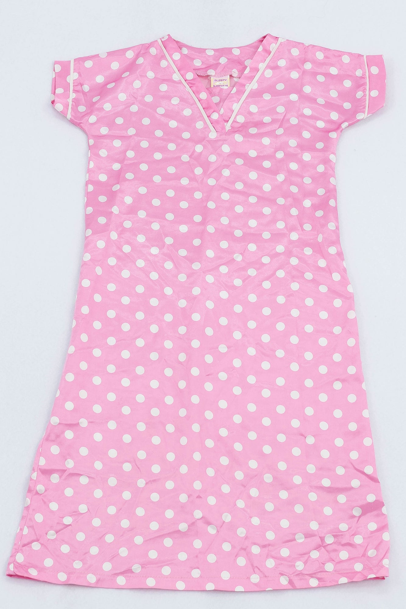 Sleepy Sleepwear Pink Satin Dotty Nighty Girls 3-4 years