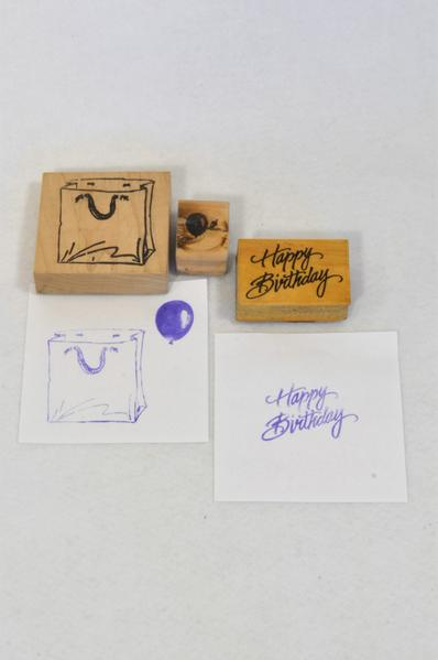 3 Pack Happy Birthday Stamps Toy Unisex 1-8 years