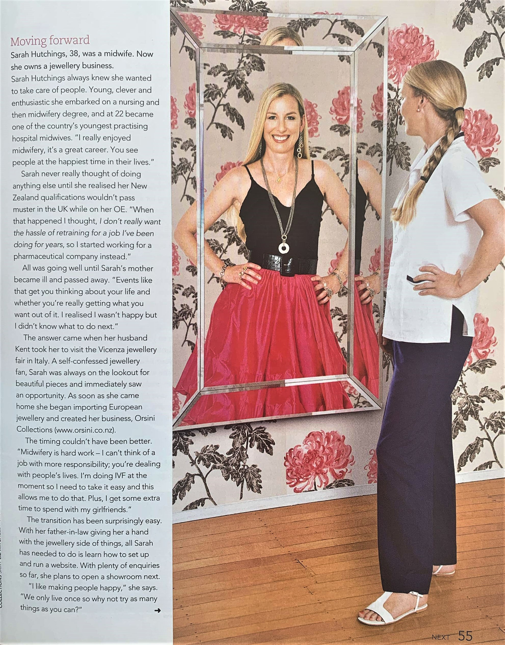 Sarah Hutchings in Next Magazine - 'Mirror, Mirror on the Wall'