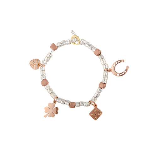 Dodo jewellery with rose gold charms