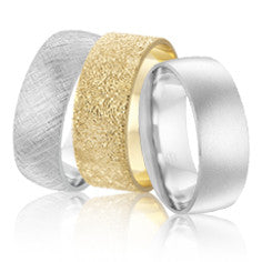 Mens wedding band with different finishes