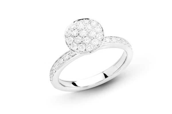 Funghetti 18kt White Gold Diamond Ring (Medium)