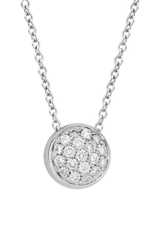 Funghetti 18k White Gold Diamond Necklace