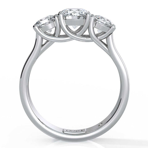 Orsini Picchi 3 Stone Diamond Engagement Ring