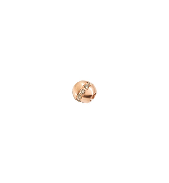 Dodo Nugget in 9k Rose Gold with Brown Diamonds