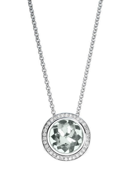 Colori White Topaz and Diamond Necklace by Hulchi Belluni