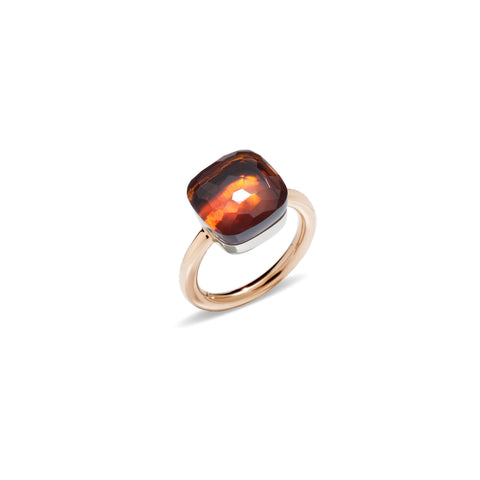 Nudo Madeira Quartz Large Rose Gold Ring