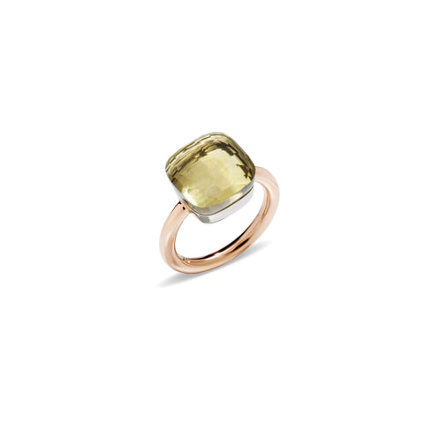 Nudo Lemon Quartz Large Rose Gold Ring