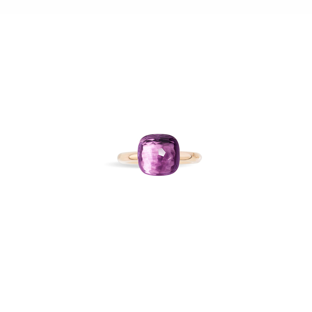 Nudo Classic Ring in 18k Rose Gold and White Gold with Amethyst - Orsini Jewellers NZ