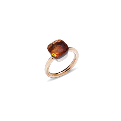 Nudo Madeira Quartz Rose Gold Ring