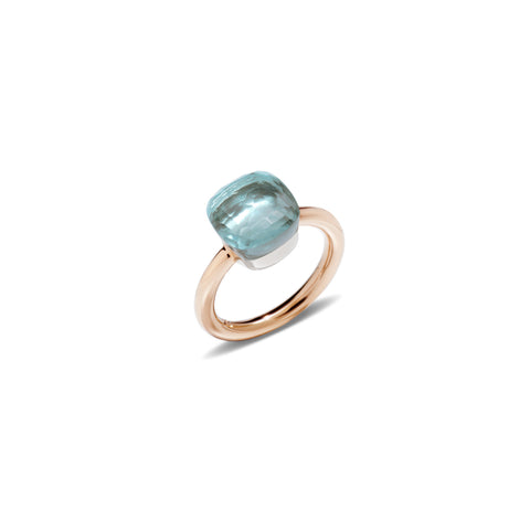 Nudo Blue Topaz Rose Gold Ring