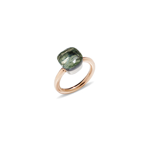 Nudo Green Prasiolite Rose Gold Ring
